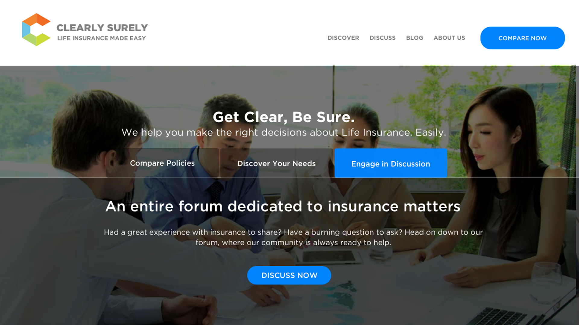UX UI Design for Clearly Surely, an Insurance Site