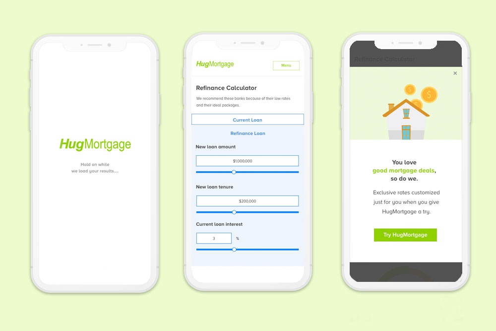 UX UI Design for a mortgage company in Singapore
